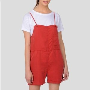 NWT Noisy May Lyocell Overall Romper Playsuit M